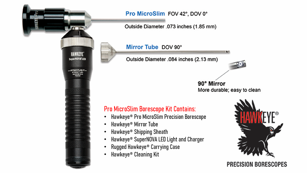 Link to Hawkeye® Pro MicroSlim Borescope .073″ (1.85 mm)